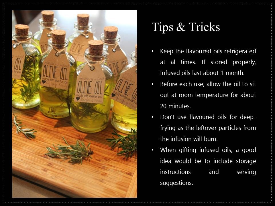 Best tips and tricks for infused olive oil