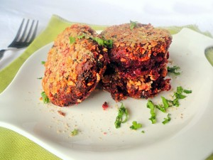 Beetroot and Chickpeas Kebab