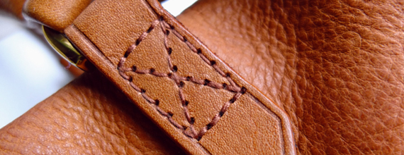 Rub Olive oil into worn leather